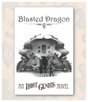Blasted Dragon Front Postcard Display