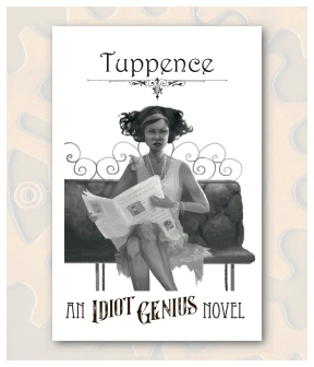 Tuppence Front Postcard Display